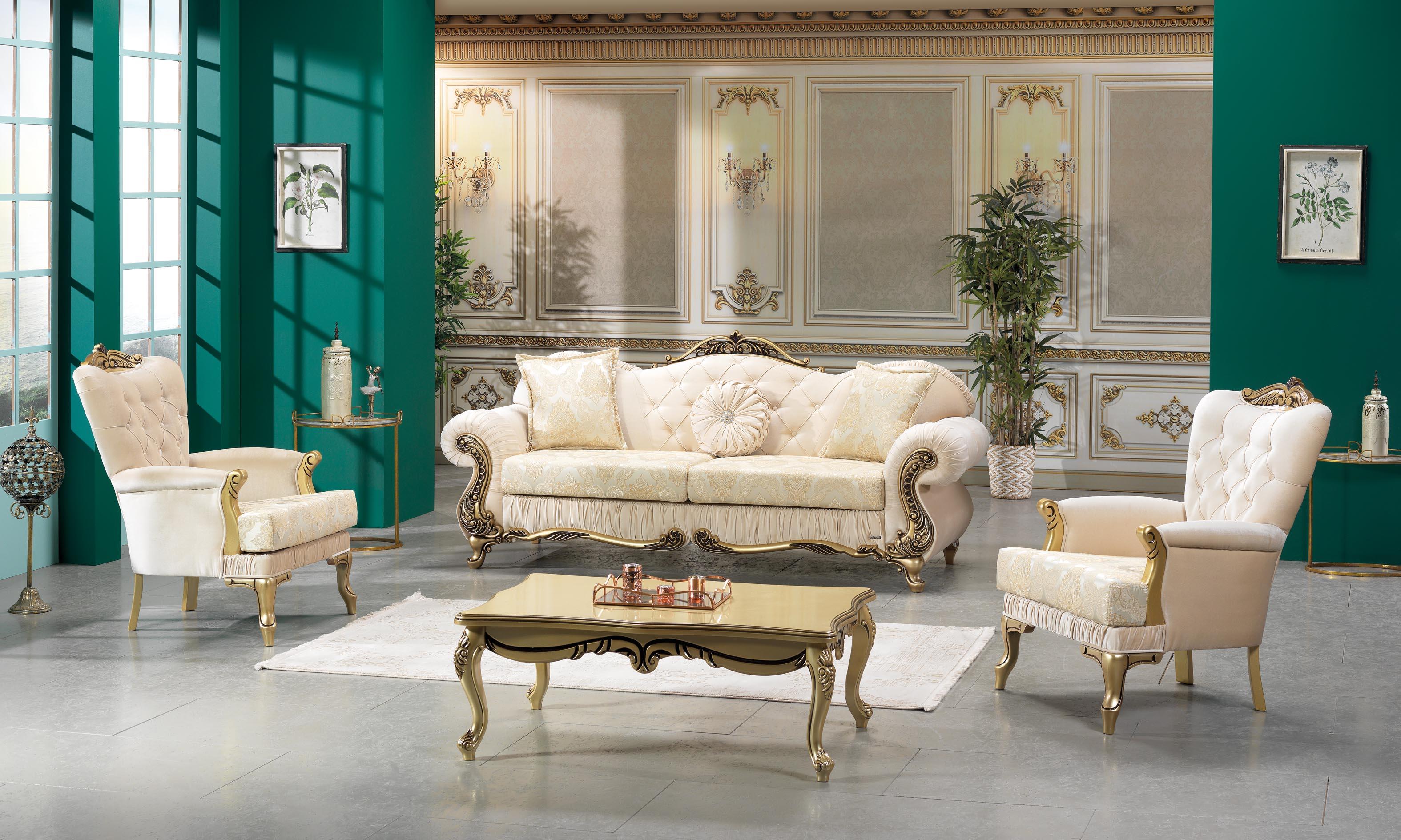 Set canapele de lux si fotolii fixe Hurrem