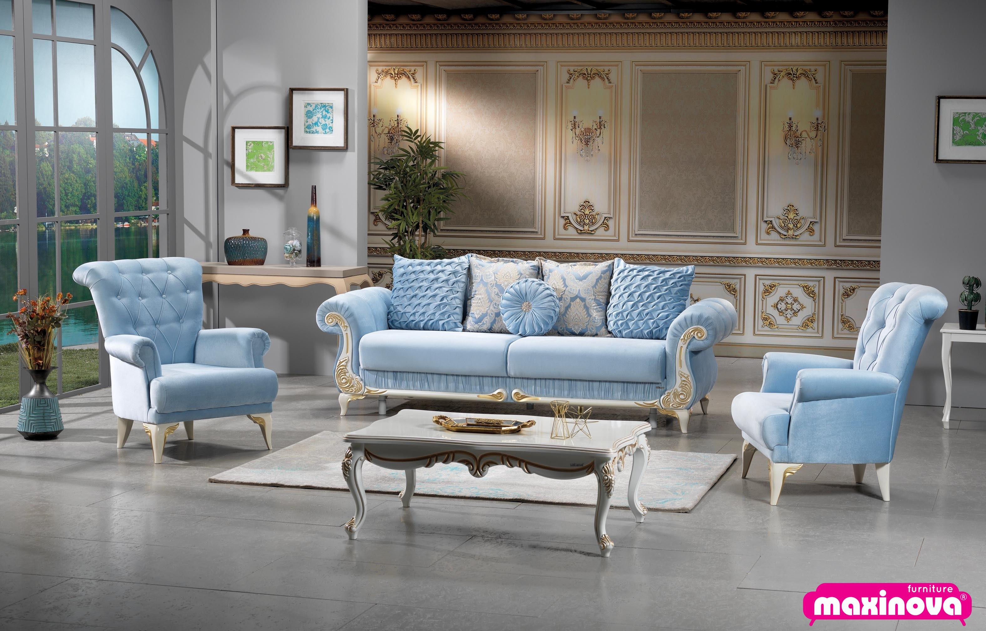 Canapea extensibila cu 3 locuri Sehrazat, lux
