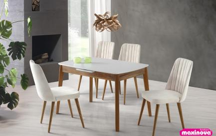 Idei decorative de sarbatori cu mese si scaune bucatarie