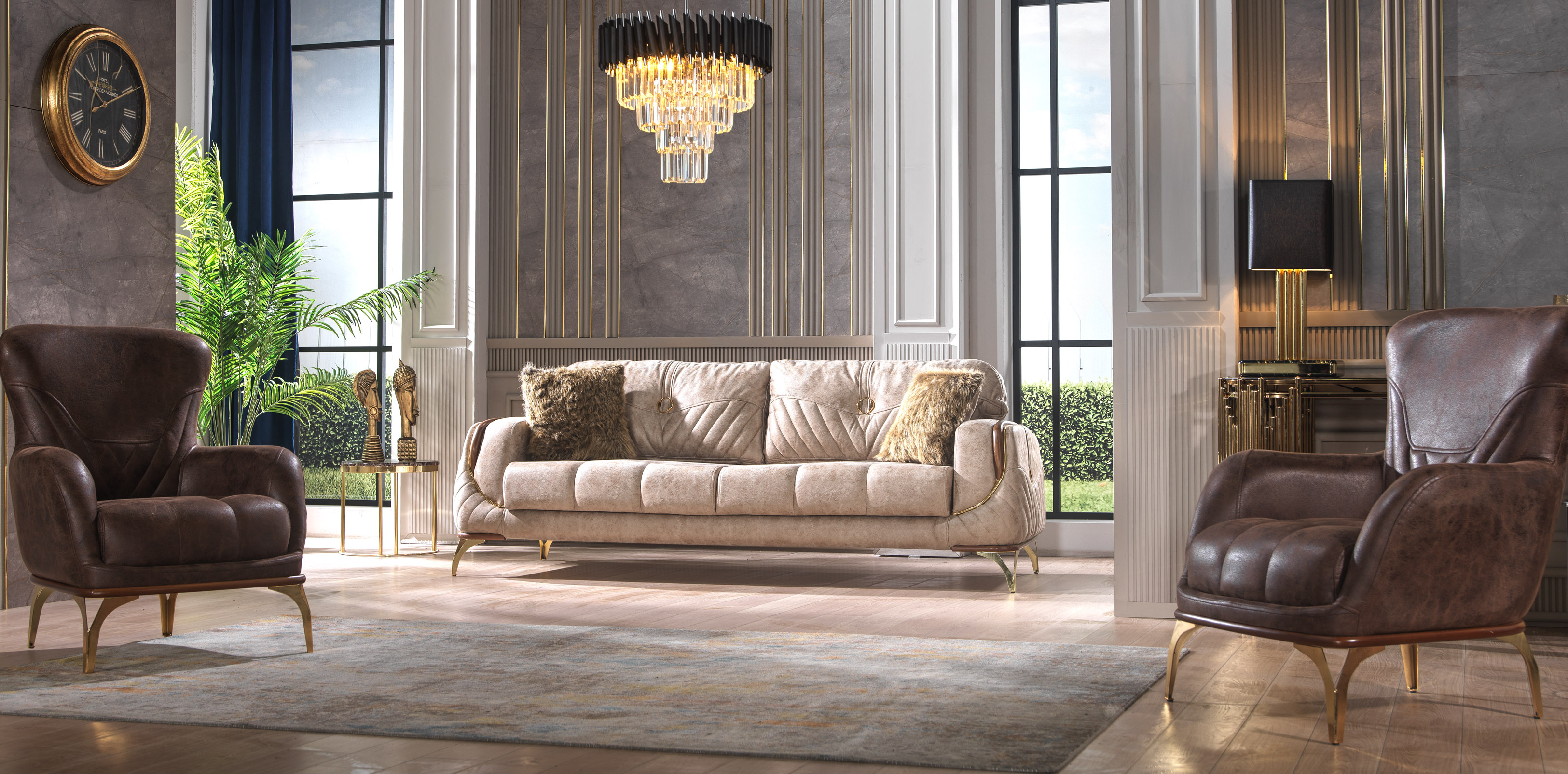 Canapea extensibila cu 2 locuri Monaco