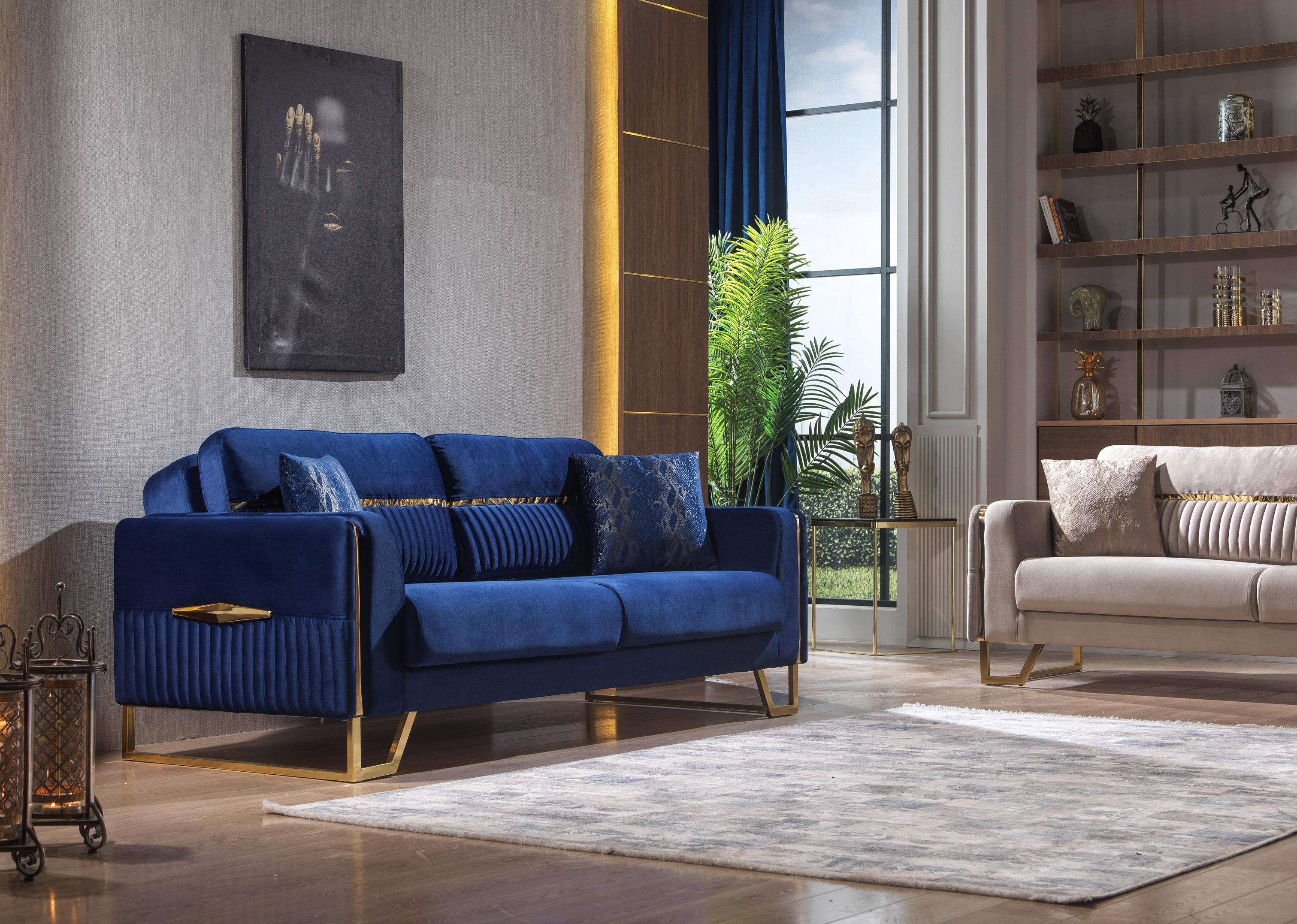 Canapea cu 2 locuri extensibila, Platin